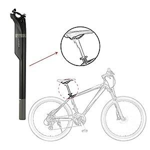 Lixada Tija de Sillín Bicicleta Fibra de Carbono MTB Bicicleta de Carretera 27.2mm/30.8mm/31.6mm