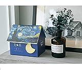 Multifunzionale Calendario scatola portaoggetti Stella Calendario da tavolo Flip Stand Tavolo Ufficio Planner (blu scuro)