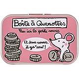 Derrière la Porte Louloute - Cajita para dientes de leche, diseño de ratón y monedas, con texto en francés