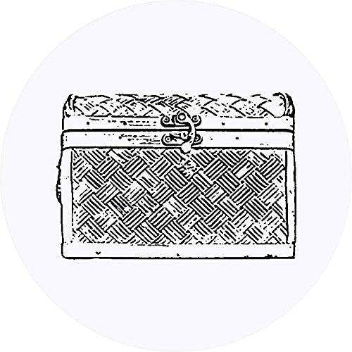 Azeeda 24 x 40mm Runden'Hölzerne Truhe' Aufklebern / Stickers (SK00002243)