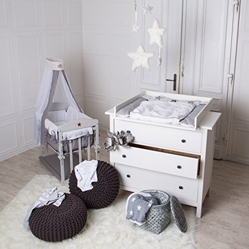 Preisvergleich Produktbild Wickelaufsatz für IKEA Hemnes, Hurdal Kommode in weiß