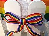 Rainbow Band, Einhorn Party Band 25mm x 5m Material für Nähen Kostüme Kuchen Band