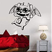xingzhi Funny Wall Sticker For Nursery Kids Room Bat Headphones Player Vinyl Wall Decals For Music Classroom Art Coffee Store Decor 42X48Cm
