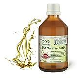 Original-Leckerlies Nachtkerzenöl aus kontrolliertem Anbau 250 ml in brauner Apotheker-Glasflasche - 100% rein & kaltgepresst, Lebensmittelqualität, Naturprodukt für Hunde, barfen