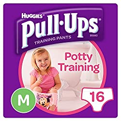 Huggies Pull Ups Day Time Potty Size Medium Training Pants Girls, 10 to 18 kg