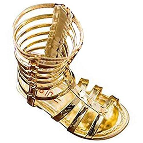 hibote Sommer Kind Sandalen Weiblich Kind Hoch Gladiator Cool Stiefel Lang Gaotong Niet Mode Ausgeschnitten Schuhe