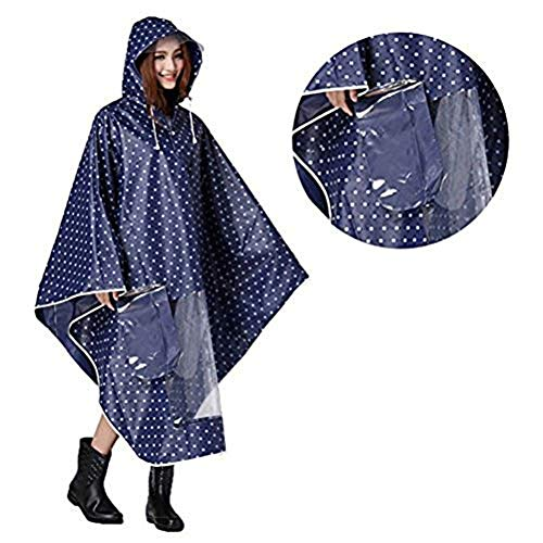 Hombre Mujer Capa lluvia impermeable Poncho impermeable