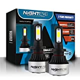 NIGHTEYE 2x 72W 9000LM H7 LED Phare Auto Car Lampe Feux Conversion Ampoule Light 6500K - 3 ans de garantie