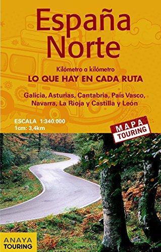 Mapa de carreteras 1:340.000. España Norte. Desplegable (Mapa Touring)