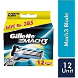 Gillette Mach 3 Manual Shaving Razor Blades - 12s Pack (Cartridge)