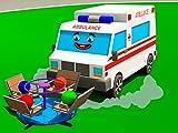 Lerne Farben zusammen mit weißer Krankenwagen