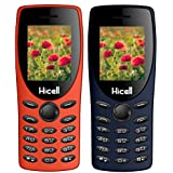 Hicell C1Tiger (DarkBlue+Orange) COMBO OF TWO MOBILES Basic Feature Mobile Phone With Dual Sim, 1.8 Inch Display, 1050 MAH Battery, FM Radio , Bluetooth, Torch, Digital Camera, SOS, Expandable Upto 16GB, BIS Certified And 1 Year Warranty