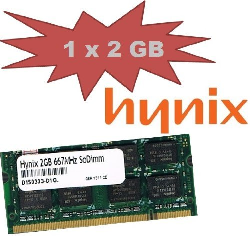 HYNIX original 2 GB 200 pin SO-DDR2-667 (PC2-5300) 128Mx8x16 double side (HYMP125S64CP8-Y5) für NOTEBOOKS + NETBOOKS