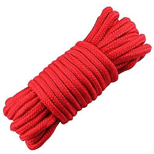 Wolike 10 Meter Lange Seile 7 mm Dicke, Camping Seil, Garten, Bootfahren, Haustiere, Kletterseil, Mehrzweck-Seile, rot