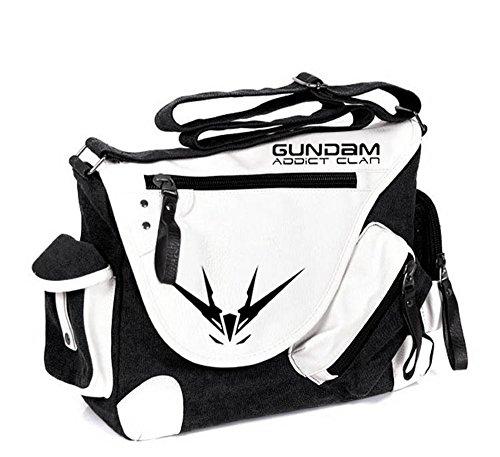 Siawasey anime giapponese Cosplay borsa Satchel zaino messenger bag borsa a tracolla nero One-Punch Man2 Mobile Suit Gundam1