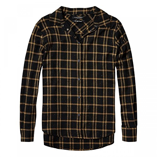 Button-up-shirt (Maison Scotch Damen Langarm Hemd Checked button up shirt 141024 Combo C S)