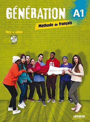 Génération 1 niv.A1 - Livre + Cahier + CD mp3 + DVD par Marie-Noëlle Cocton