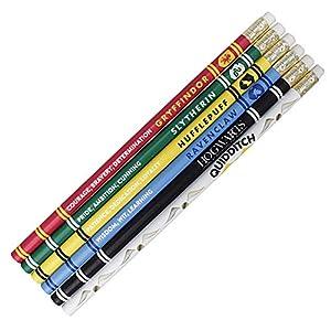 Juego de 6 lápices de madera auténticos de Harry Potter House Pride en caja de regalo 3