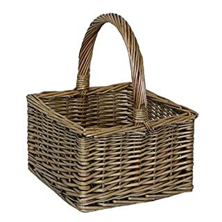 Small Antique Wash Square Shopping Basket