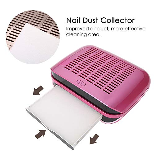 Aspirador clavos, colector polvo eléctrico uñas