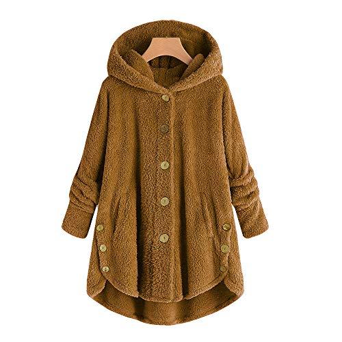 Staresen Wintermantel Damen einreihig Mode Damen Knopf