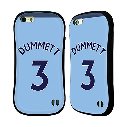 Ufficiale Newcastle United FC NUFC Jamie Sterry 2017/18 Giocatori Away Kit Gruppo 1 Case Ibrida per Apple iPhone 5 / 5s / SE Paul Dummett