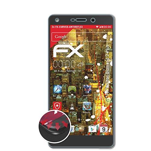 atFolix Schutzfolie passend für Archos Diamond 2 Plus Folie, entspiegelnde & Flexible FX Bildschirmschutzfolie (3X)