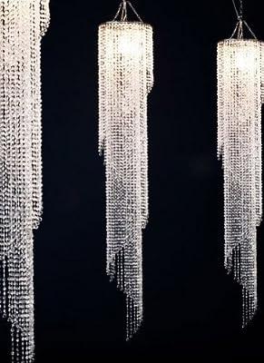 Gigantische Hängeleuchte Big Strass Deckenleuchte Acrylglas Kristalle von DeLife