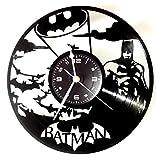 Wanduhr Vinyl-Schallplatte, Geschenkidee, Vintage, handgefertigt, Movie Batman