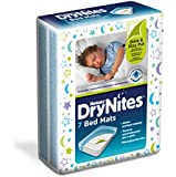 Huggies DryNites Bed Mat - 4 Packs of 7 Mats (28 Mats Total)