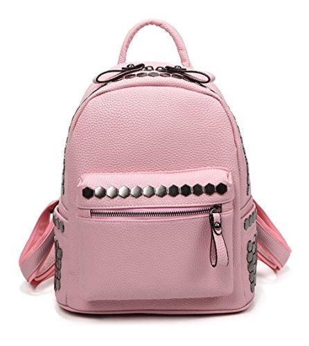 Keshi Pu Niedlich Damen accessories hohe Qualität Einfache Tasche Schultertasche Freizeitrucksack Tasche Rucksäcke Pink