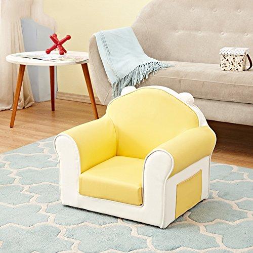 DEO Bureau d'ordinateur Petit canapé pour enfants Steady Bed Childrens Toddlers Foam Armchair durable (Couleur : Le jaune)