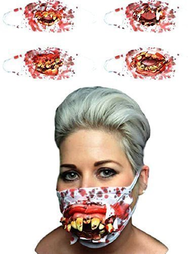n Zombie Chirurg Medical Maske mit Goofy Zähne (Kostüm Medicale Online)