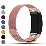 iFeeker Bracelet de rechange pour Smart Watch, fermoir aimanté, maille milanaise en acier inoxydable - compatible Smart Watch Samsung Gear Fit2 SM-R360 et Gear Fit 2 PRO, rose gold