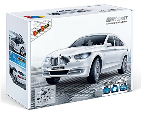 banbao-6805-2-bmw-535gt-white-construction-set-98-pcs-1-28-miniature-toy-licensed-by-bmw