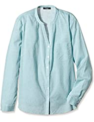 Frapp Damen Bluse Langarm Bluse Stehkragen mit Streifen