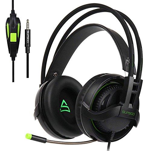 [2017 Neu aktualisiert Gaming Kopfhörer] SUPSOO G810 Multi-Platform Gaming Kopfhörer Mit Mic 3.5MM Jack IN-LINE Lautstärkeregler Over-Ear Gaming Kopfhörer Für Ps4/PC/Xbox one/Mac/Smartphones