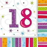 Amscan 16 Papierservietten für 18-Jährige