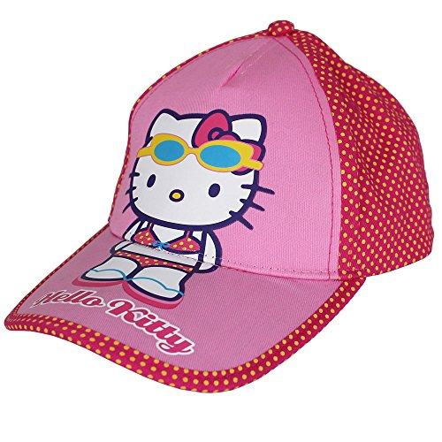 Cap für Kinder mit Motiv- und Größenauswahl - Kinder Cappie - Kinder Baseball Cap - Mädchen Jungen Hut - Baseball Kappe - verstellbare Baseballmütze (54, Hello Kitty) (Baby Mütze Kitty Hello)