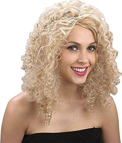 Blonde Locken Perücke für Frauen Verkleidung Halloween Party Kostüm