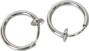 TOOGOO (R), orecchini con clip a molla, per lobi non forati, 12mm di diametro
