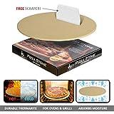 SMAR.T LifeSmart Thermarite Pizza-Stein und Bonus Schaber - 13 Zoll - Ideal für knusprige Krusten - Wärme sicher für Den Einsatz auf Grills und Öfen - Safe Zertifiziert - enthält Bonus Schaber