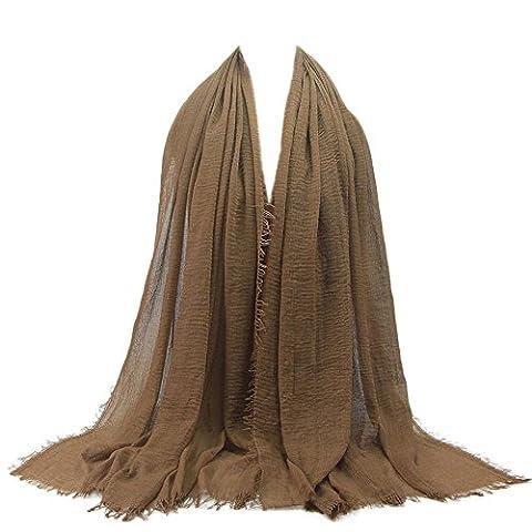 Goodsatar Premium Viskose Maxi weich Crinkle Cloud Hijab Schal (H)