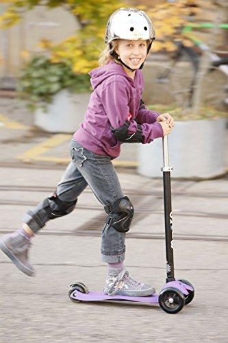 Micro Kinderroller Maxi Kickboard Lila mit Lenkstick -