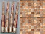 i.stHOME 4 Rollen Klebefolie Fliesen Toscana braun - selberklebende Folie - Möbelfolie Dekorfolie je Rolle 45x200 cm