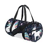 jstel hermoso unicornio bolsa de deporte gimnasio para hombres y mujeres  bolsa de viaje de viaje 246856892fd06