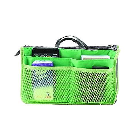 boldion (TM) portable sac en sac, double fermeture éclair, poches multifonctions Voyage sac à main sac de rangement, fadish Organiseur de voyage maquillage Sac