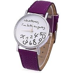 Leopard Shop Woman Wristwatch Fresh New Style Purple