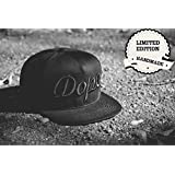 MoohMaya Limited Edition Premium Quality Black DOPE [3D Embroidery Logo] Hip Hop Snap Back Cap For Men And Women | Adjustable Belt, 100% Comfortable Sports Caps | Perfect For Running, Workouts, Outdoor Activities, Gym, Sports & Style Outfit