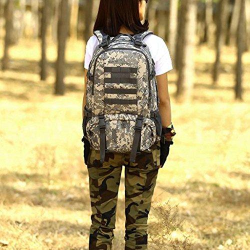 MagiDeal Sacchetto Zaino Da Campeggio Trekking Arrampicata Esercito Scuola Esterno 40L In Nylon - Deserto digitale ACU Digital